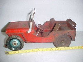 1: Metal 1938 Willy's Jeep w/spare tire
