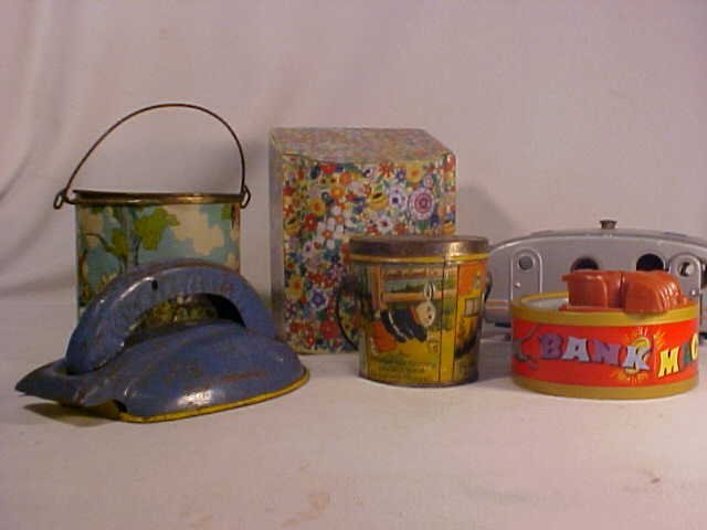 36: Lot of 6 Early Misc. Tin Toys