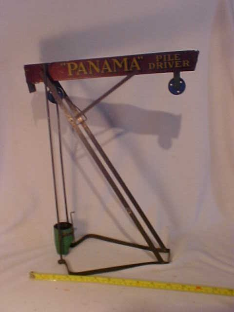42: Early Panama Pile Driver Farm Toy