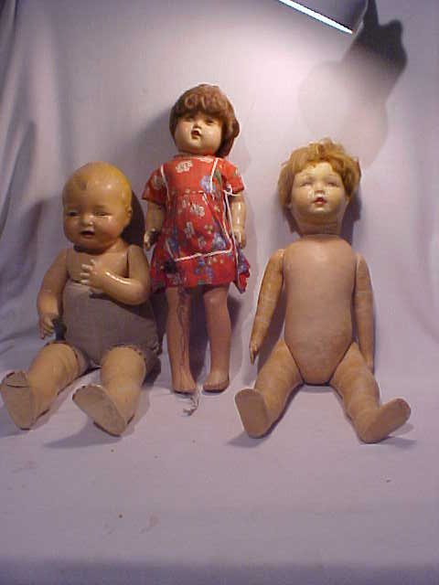 115: Lot of 3 Early dolls Walk Talk Sleep Effanbee