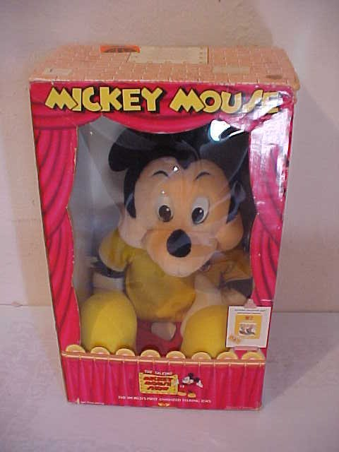 """137: """"Talking Mickey Mouse"""" doll with original box"""