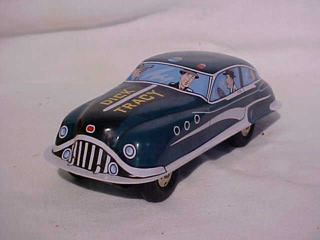 1: Tin litho Dick Tracy Riot Car.  By Schylling w/origi