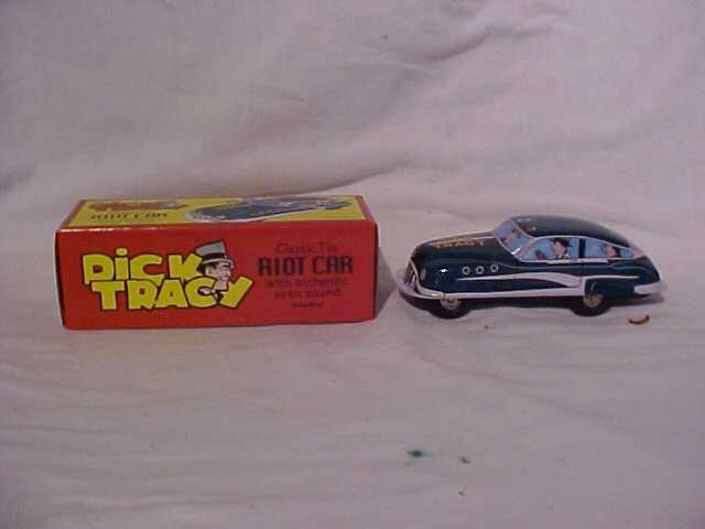 1: Tin litho Dick Tracy Riot Car.  By Schylling w/origi - 2
