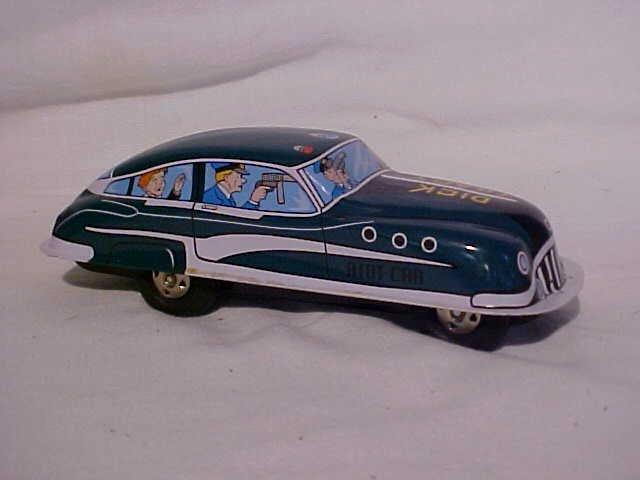 1: Tin litho Dick Tracy Riot Car.  By Schylling w/origi - 3