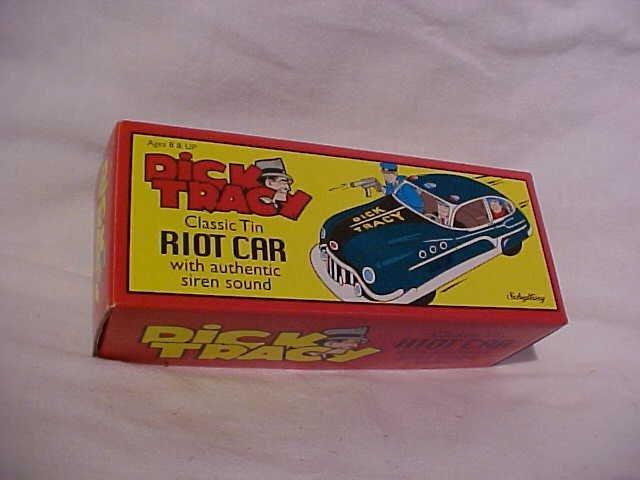 1: Tin litho Dick Tracy Riot Car.  By Schylling w/origi - 7
