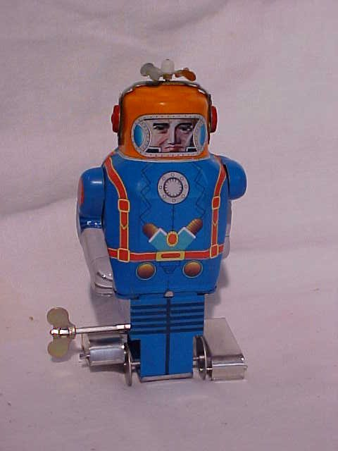 3: Tin Litho Astronaut  Robot  Wind up Toy