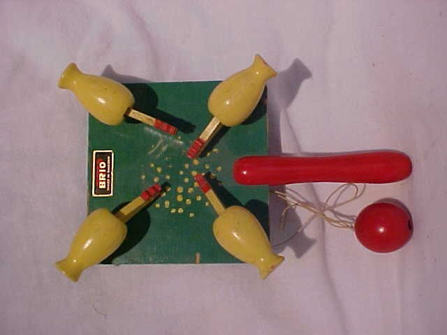"""5: """"Feed the Chickens"""" Wooden Handled Toy"""