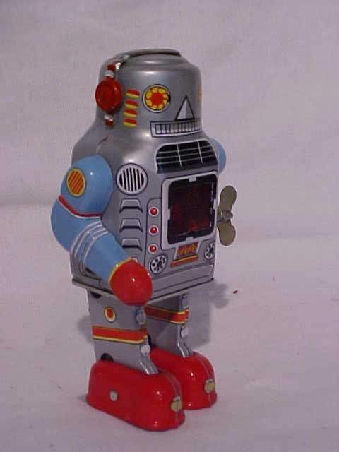 "7: Tin Litho Wind Up ""Walking Robot"" Toy"