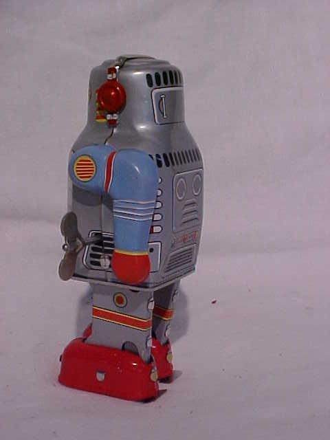 "7: Tin Litho Wind Up ""Walking Robot"" Toy - 3"