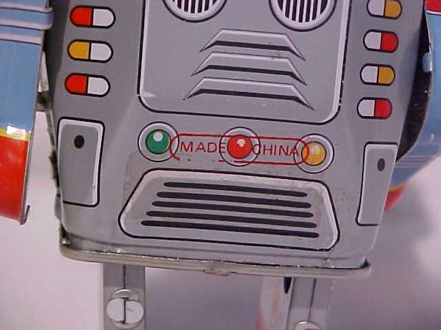 "7: Tin Litho Wind Up ""Walking Robot"" Toy - 4"