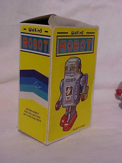 "7: Tin Litho Wind Up ""Walking Robot"" Toy - 6"