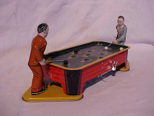 14: Tin Litho Wind Up Billiard Game Toy