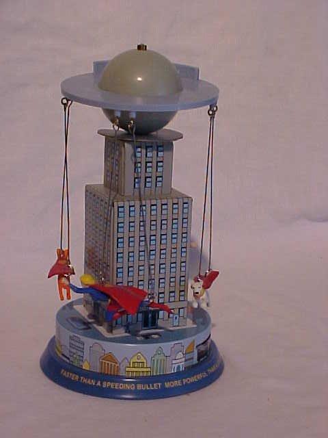 """21: Tin Litho """"Superman Carousel"""" Toy"""
