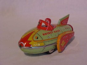 "Tin Litho ""Rocket Racer"" Toy"