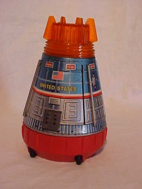 Tin LItho United States Space Capsule Toy