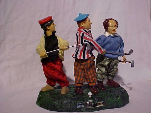 """29: """"The Three Stooges"""" animated golf scene toy"""