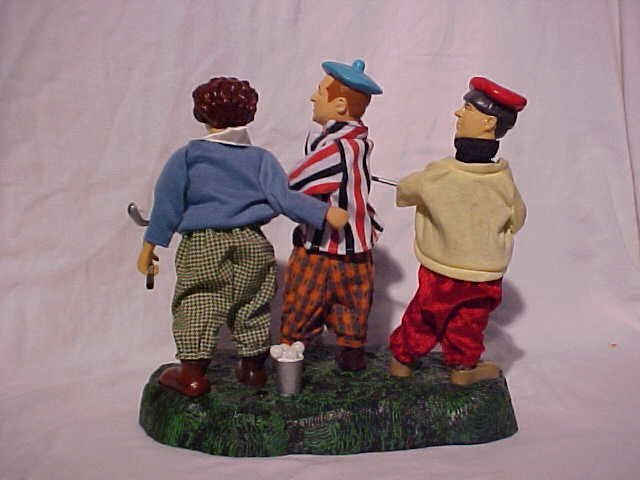 """29: """"The Three Stooges"""" animated golf scene toy - 2"""