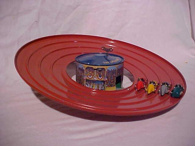 "30: Tin litho wind-up ""Speedway autoracer"" toy"
