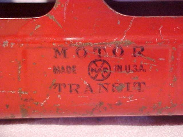 38: Marx  Press steel car hauling truck with trailer - 5