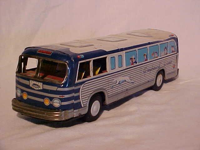 39: Tin litho Greyhound bus toy