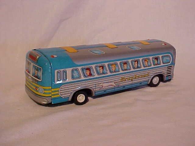 42: VintageTin litho Greyhound bus toy