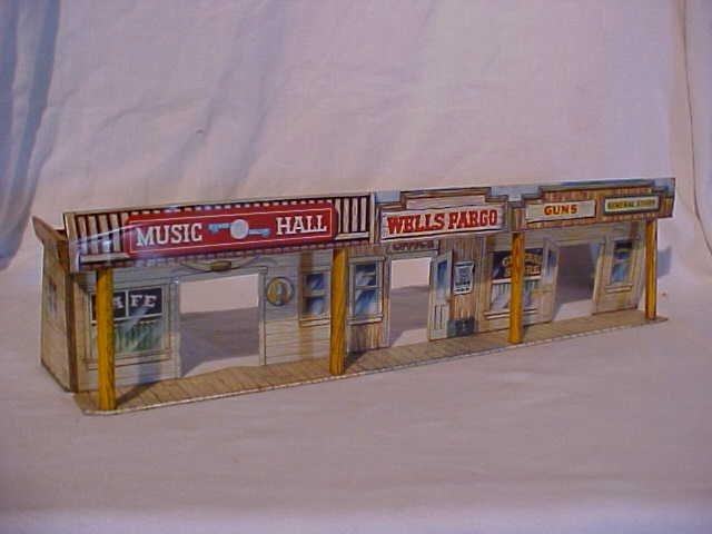 45: Tin litho store front scene toy