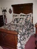 61: 3 Piece Clawfoot oak bedroom suite.