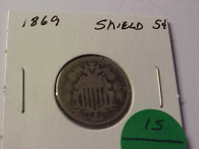 15: 1869 Shield nickel