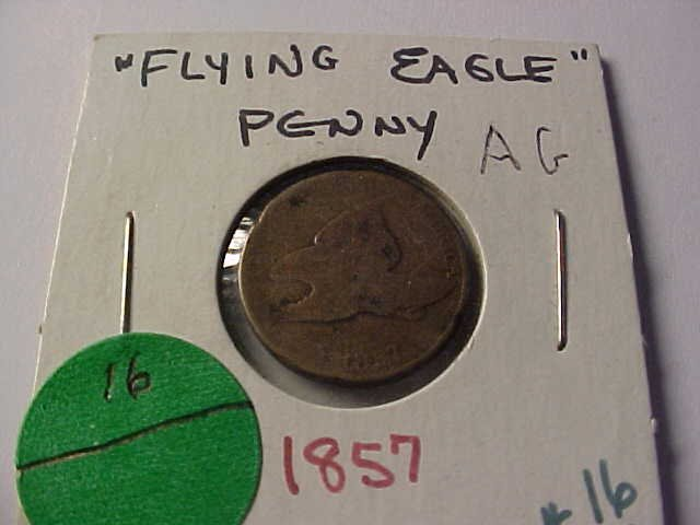 16: 1857 Flying Eagle penny