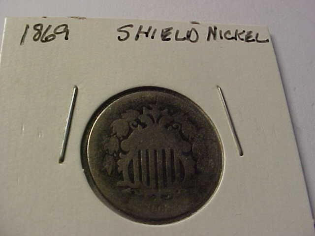19: 1869 Shield nickel