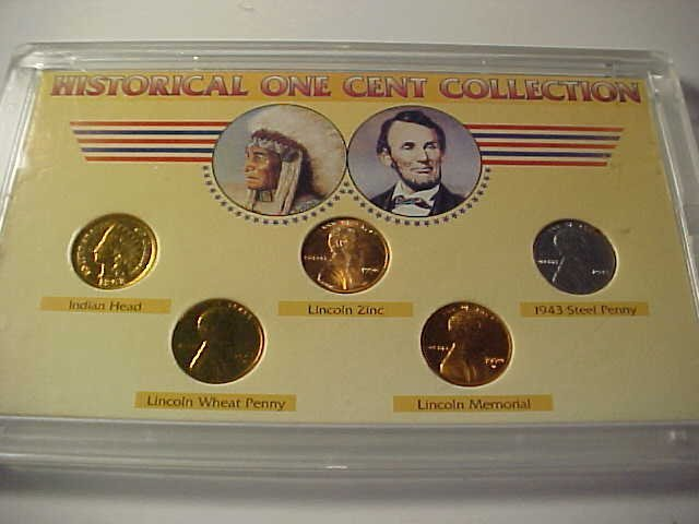 79: Historical one cent collection.  Indian head & Linc
