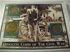 82: Civil War era coin set in case.