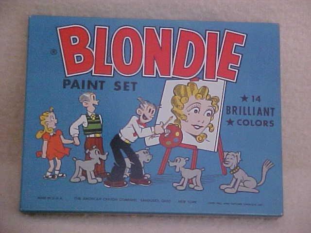 4: Blondie paint set 1952 w/tin litho box