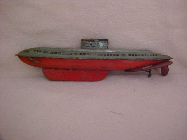 5: Wolverine tin litho wind up submarine