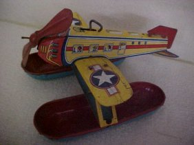 Chein Wind Up Tin Litho Plane
