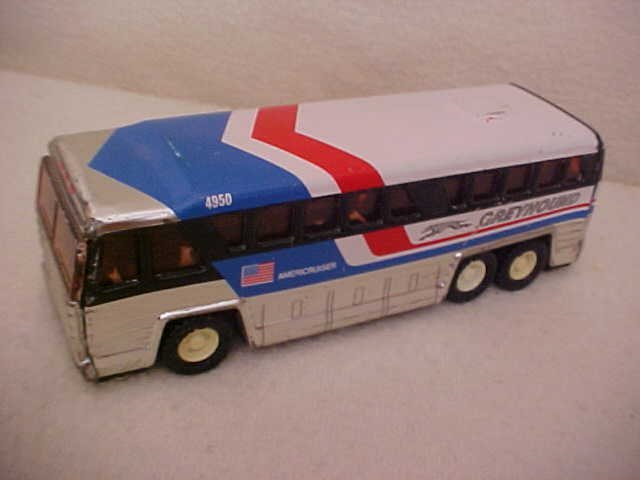17: 1979 Buddy L Corp. tin litho  Greyhound bus