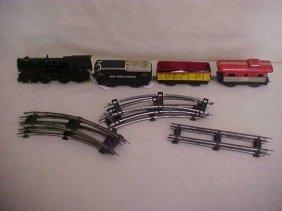 20: Marx 4 car train set w/track