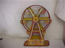 58 Chein tin litho ferris wheel Hercules wind up toy