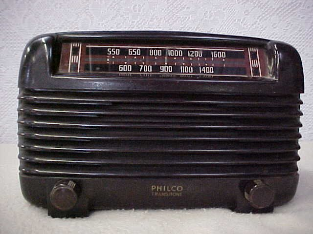 22: Early Philco transitone radio