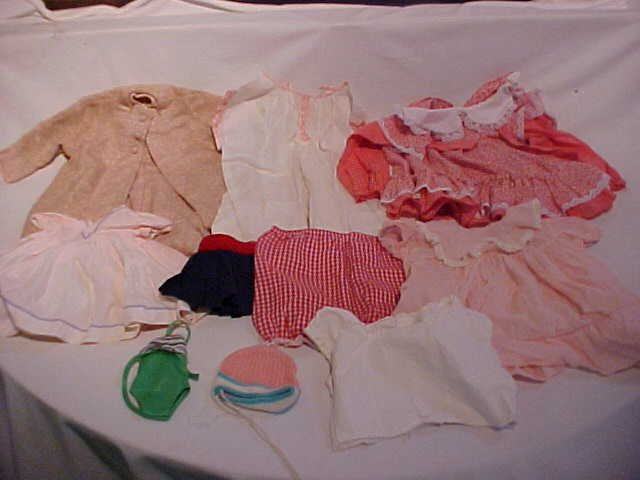 18: Lot of 10 doll clothes/outfits