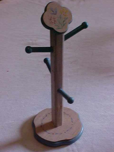 11: Doll house size painted coat rack