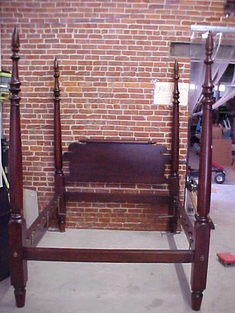 100: Period 1820's Mahogany poster bed restored.