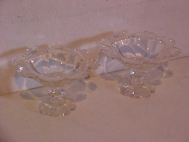 1: Pair of crystal cut glass bowls