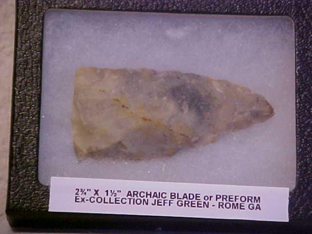 "17: 2-3/4"" x 1-1/2"" Archaic blade from Georgia"