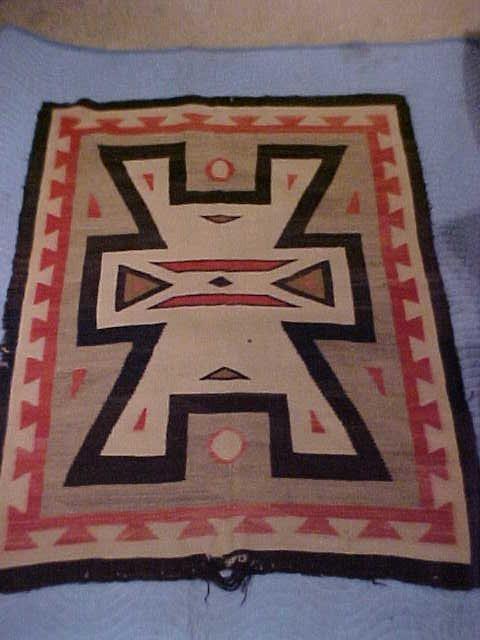 14: Indian saddle blanket/storm pattern ca 1900