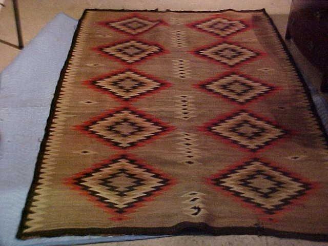 18: Indian blanket - double diamond ca 1900