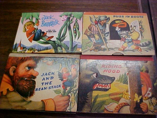 1: Lot of 4 Early pop up picture books.