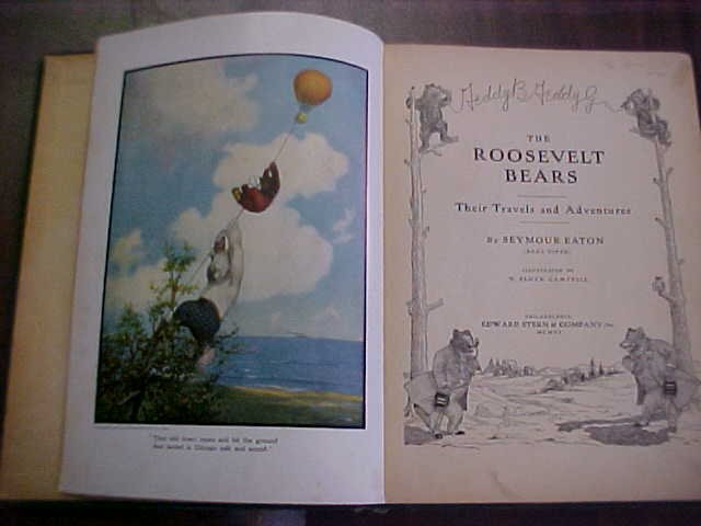 3: First Edition The Roosevelt Bears book 1906.