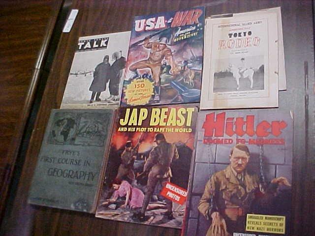 4: Vintage books Hitler, Jap Beast, U.S. War etc.