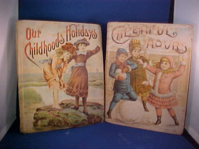 5: Lot of 2 Early Childrens books Cheerful hours